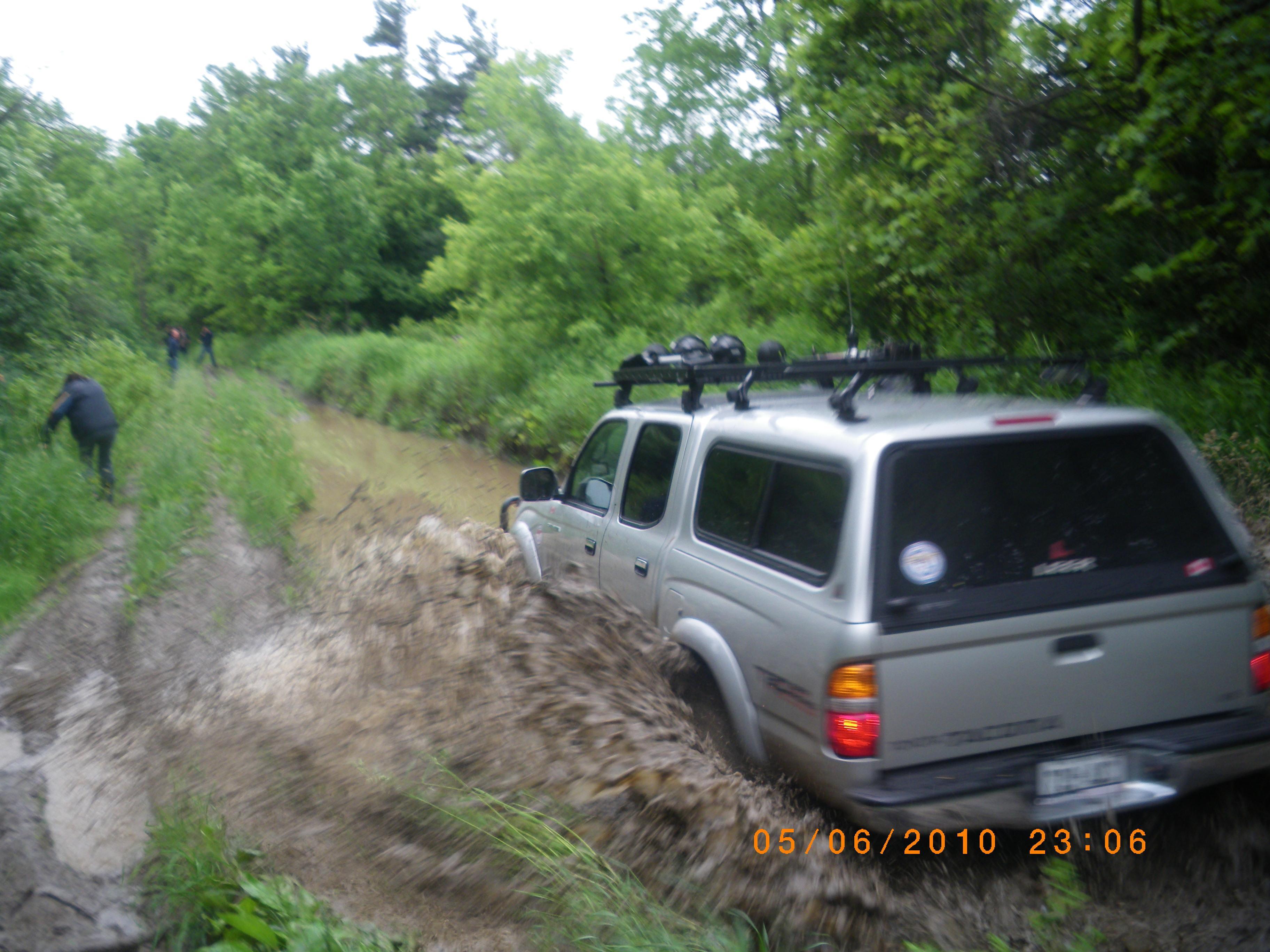 Ryan hitting the trench